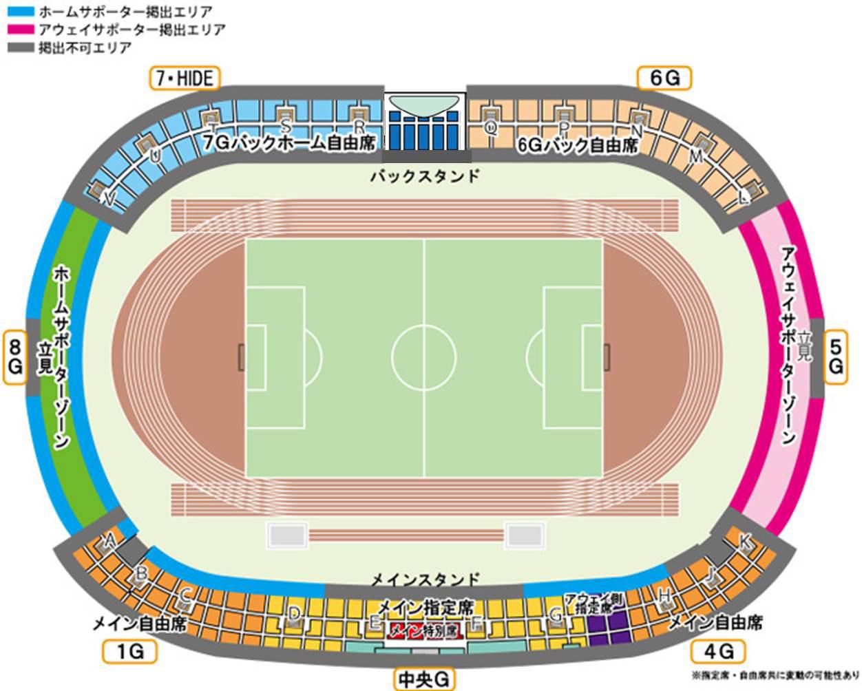 Shonan BMW スタジアム平塚案内図