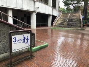 雨天走路画像